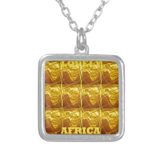 Reizendes Afrika Afrika zeichnet Entwürfe Versilberte Kette