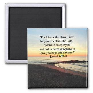 REIZENDES JEREMIAS-29:11 SONNENAUFGANG-FOTO QUADRATISCHER MAGNET