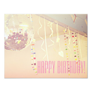 Reizendes Mädchen alles Gute zum Geburtstag! 10,8 X 14 Cm Einladungskarte