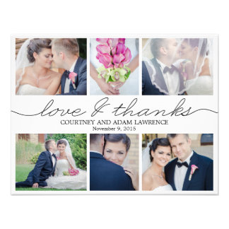 Reizendes Schreibens-Hochzeits-Foto danken Ihnen,  Einladungskarte