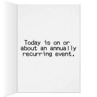 Relative jährliche Veranstaltung Karte