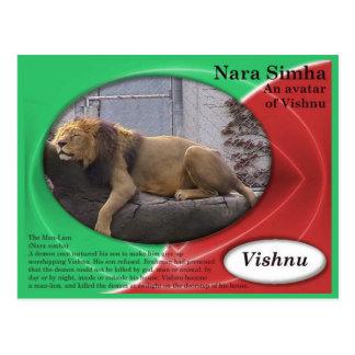 Religion, Hinduismus, Nara Sinha, Avatara von Postkarte