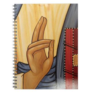 Religiöse Handzeichen-Kunst Spiral Notizblock