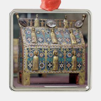 ReliquaryChasse, Limoges, c.1200-50 Quadratisches Silberfarbenes Ornament
