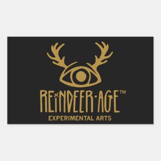 Ren-Alters-experimentelle Kunst-Logo-Aufkleber Rechteckiger Aufkleber