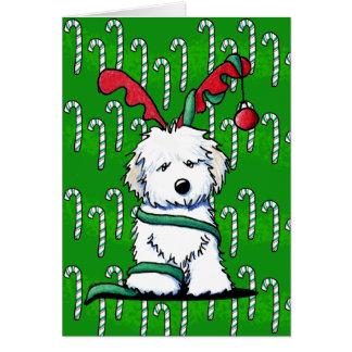 Ren Havanese Weihnachtskarte Mitteilungskarte