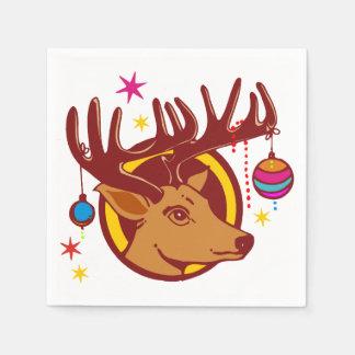 Ren/Rotwild/Weihnachten + Ihre Idee Papierserviette