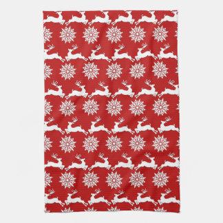 Ren-und Schneeflocke-WeihnachtsGeschirrtuch Küchentuch