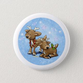 Ren-Weihnachten Runder Button 5,1 Cm