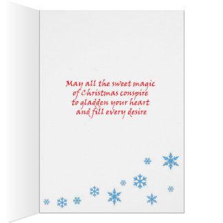 Ren-Weihnachtskarte Karte