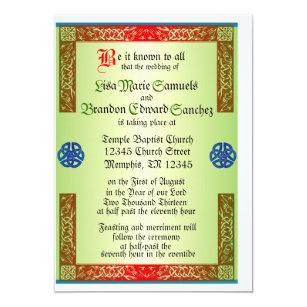 Renaisaince Mittelalterliche Hochzeits Einladung Einladung