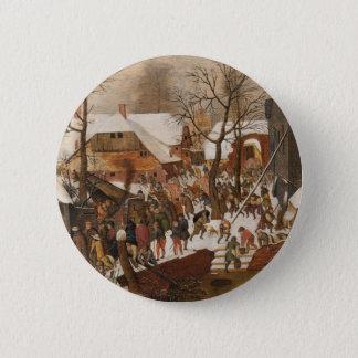 Renaissance-heilige Geburt Christi Runder Button 5,7 Cm