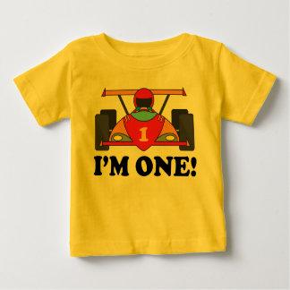 Rennen-Auto-1. Geburtstag bin ich ein T - Shirt