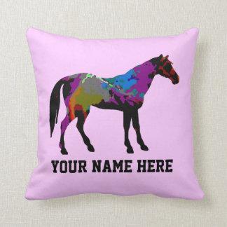 Rennen-Pferd personalisiert Kissen