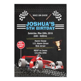 Rennwagen-Geburtstags-Einladung 12,7 X 17,8 Cm Einladungskarte