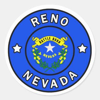 Reno Nevada Runder Aufkleber