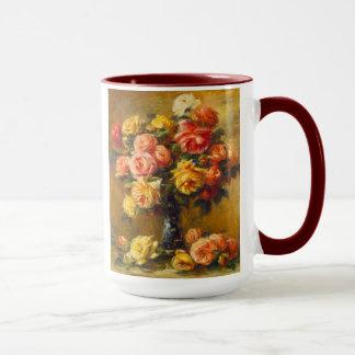 Renoir Rosen in einer Vasen-Tasse Tasse
