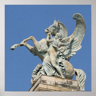 Renommee, das zurück Pegasus hält Poster