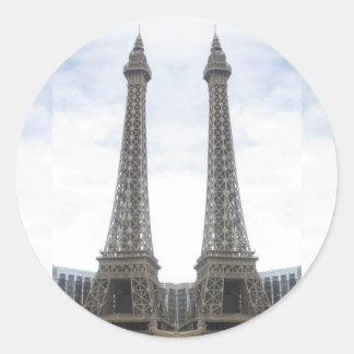REPLIK Effel Turm Las Vegas, Nevada, Amerika GIF Runder Aufkleber