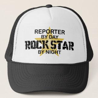 Reporter-Rockstar bis zum Nacht Truckerkappe