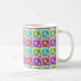 Reptilian-Vogel-Pop-Kunst-Muster Tasse