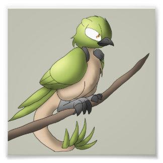 Reptilian-Vogel-Reptil-hybride Tiervogelkunst Fotodruck