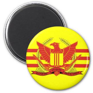 Republik der Südvietnam-Streitkraft-Flagge Runder Magnet 5,7 Cm