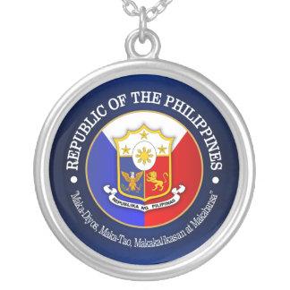 Republik Philippinen Halskette Mit Rundem Anhänger