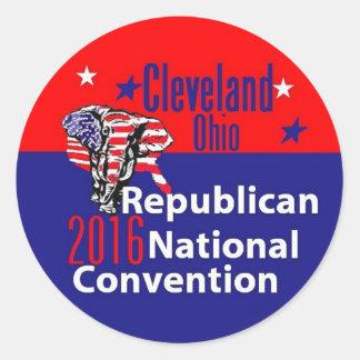 Republikaner-Versammlung 2016 Runder Aufkleber