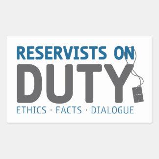 Reservist-Aufkleber im Dienst Rechteckiger Aufkleber