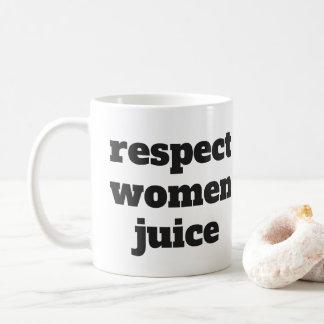 Respekt-Frauen-Saft Tasse