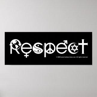Respekt-Mutter-Erde - recyceln Sie retten den Poster