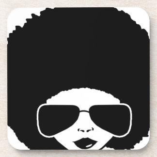 Retro Afromädchen Drink Untersetzer