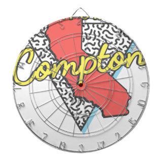 Retro Andenken Comptons Kalifornien Dartscheibe