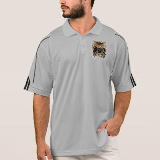 Retro Art-Eule Polo Shirt