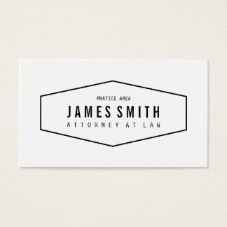 Retro beruflicher Rechtsanwalt Visitenkarten