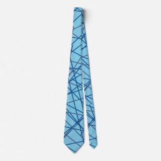 Retro blaue Krawatte! Bedruckte Krawatten