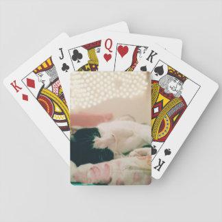 Retro Blick-Katzen-Foto-Spielkarten Spielkarten