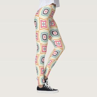 Retro bunte Muster-Gamaschen Leggings