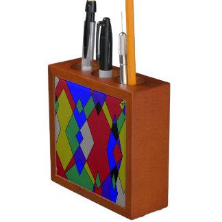 Retro bunter Diamant abstrakt Stifthalter