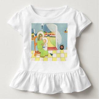 Retro Cartoon, Mary mit Baby Jesus Kleinkind T-shirt