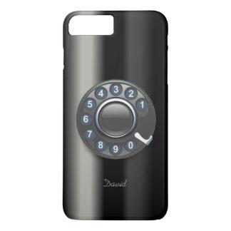 Retro Drehskala-Telefon metallisch iPhone 8 Plus/7 Plus Hülle