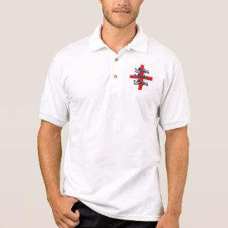 Retro Entwurf Englands Polo Shirt
