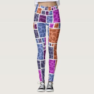 Retro Farbe quadriert Muster #18 Leggings