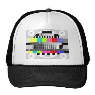Retro Fernsehmehrfarbensignal-Testmuster Mützen