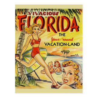 Retro Florida-Ferien-Postkarte Postkarte