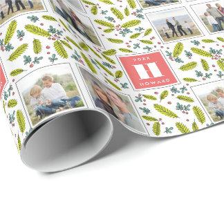 Retro Foto-Weihnachtsgeschenk-Verpackung der Geschenkpapier