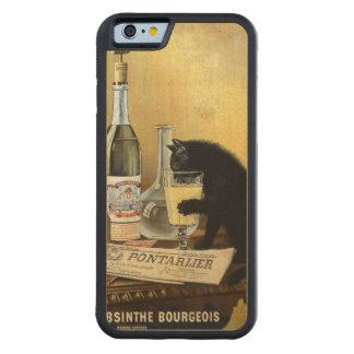 """Retro französisches Plakat """"Wermutbürger """" Bumper iPhone 6 Hülle Ahorn"""