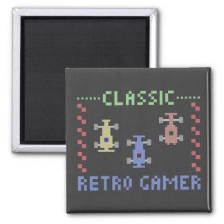Retro Gamer-Laufen Quadratischer Magnet
