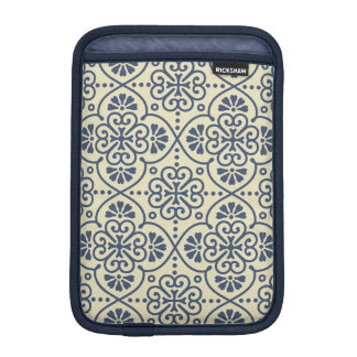 Retro geometrisches dekoratives mit Blumenmuster iPad Mini Sleeve